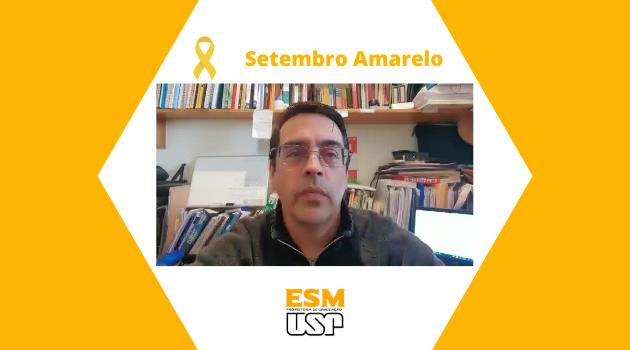 Setembro Amarelo por professor Andrés Eduardo Aguirre Antúnez  do ESM PRG